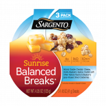 Sargento®  Sunrise Balanced Breaks® Natural Double Cheddar Cheese, Vanilla Blueberry Quinoa Clusters with Other Natural Flavors, and Blueberry Juice-Infused Cranberries