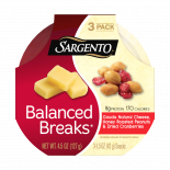 Sargento® Balanced Breaks®, Gouda Natural Cheese, Honey Roasted Peanuts and Dried Cranberries