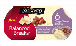 Sargento® Balanced Breaks® Natural White Cheddar Cheese, Sea-Salted Roasted Almonds, Dried Cranberries, 6-Pack