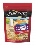 Sargento® Shredded Reduced Fat 4 Cheese Mexican Natural Cheese