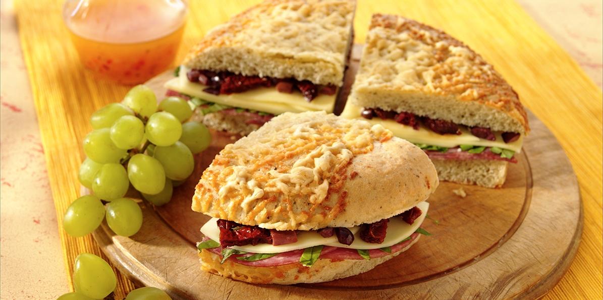Italian Focaccia Sandwich Sargento 174 Sliced Provolone Cheese