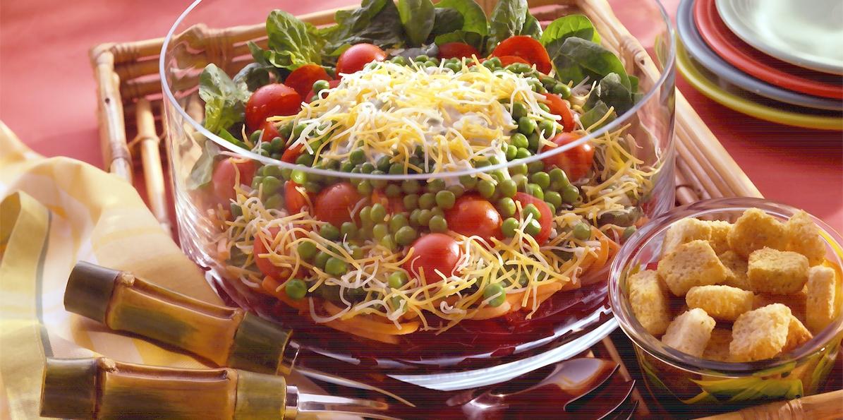 Festive Layered Salad