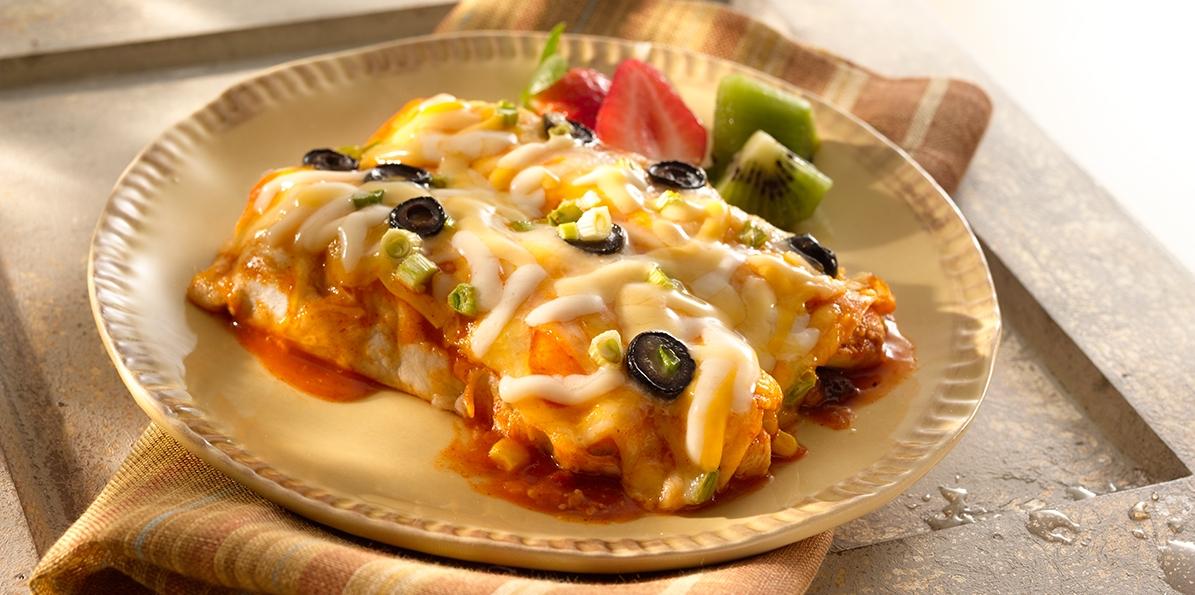 Four Cheese Chicken Enchiladas