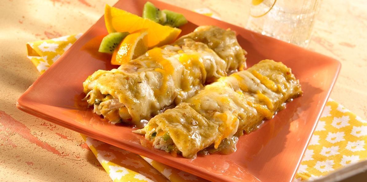 Green Chile Chicken Enchiladas Recipe | Sargento® 4 Cheese ...
