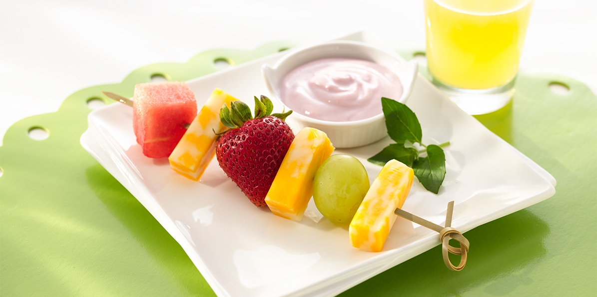 Fruity Cheese Kabobs