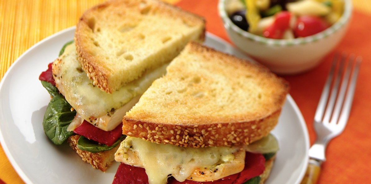 Pesto & Swiss Chicken Sandwiches