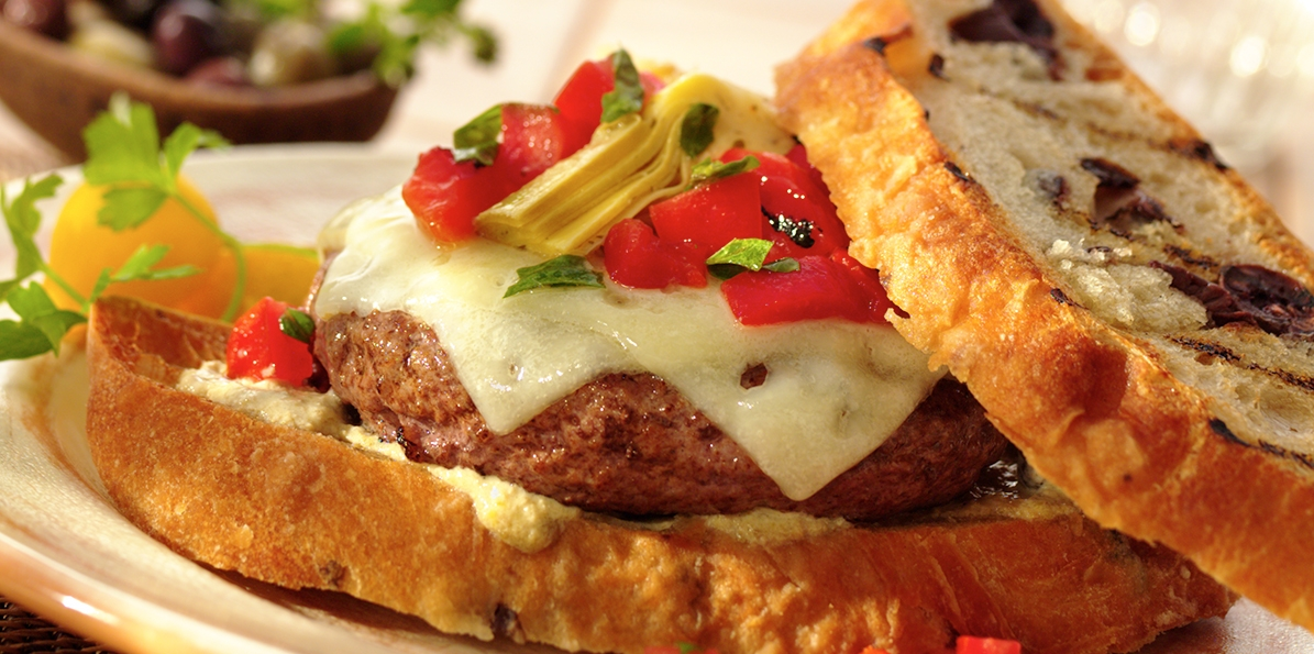 Tuscan Olive Burgers