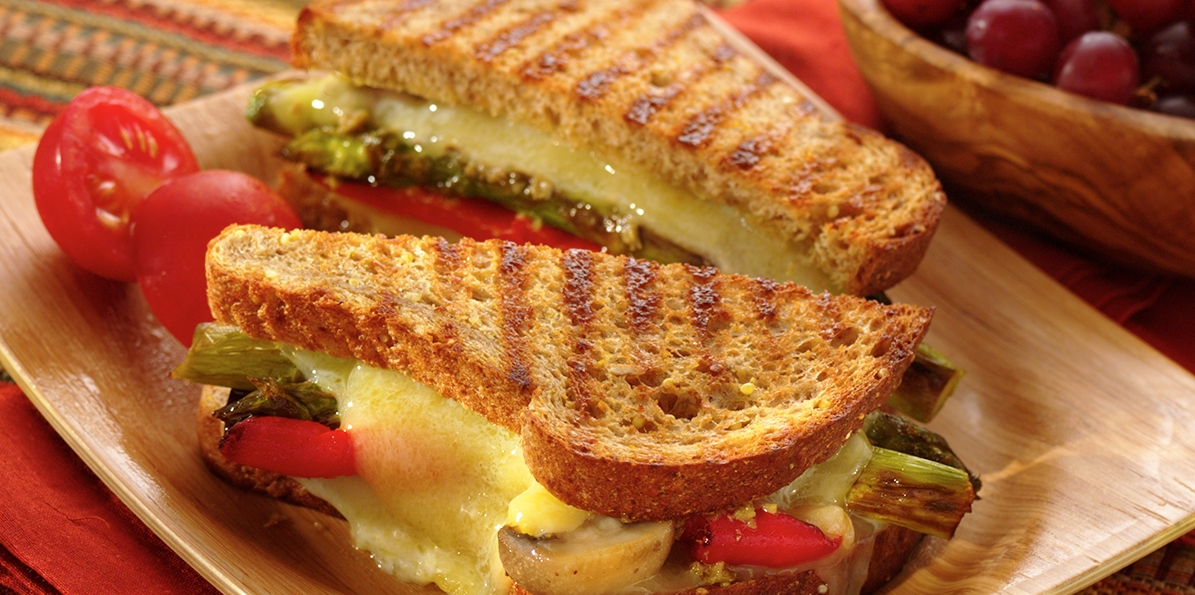 Vegetable & Cheddar Panini