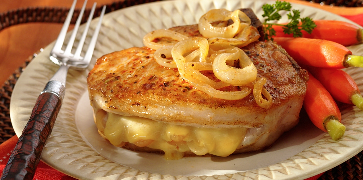 Gouda-Stuffed Cajun Pork Chops