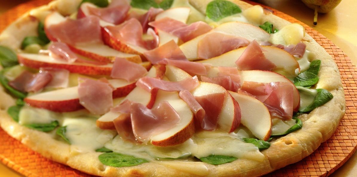 Havarti, Pear & Prosciutto Pizza