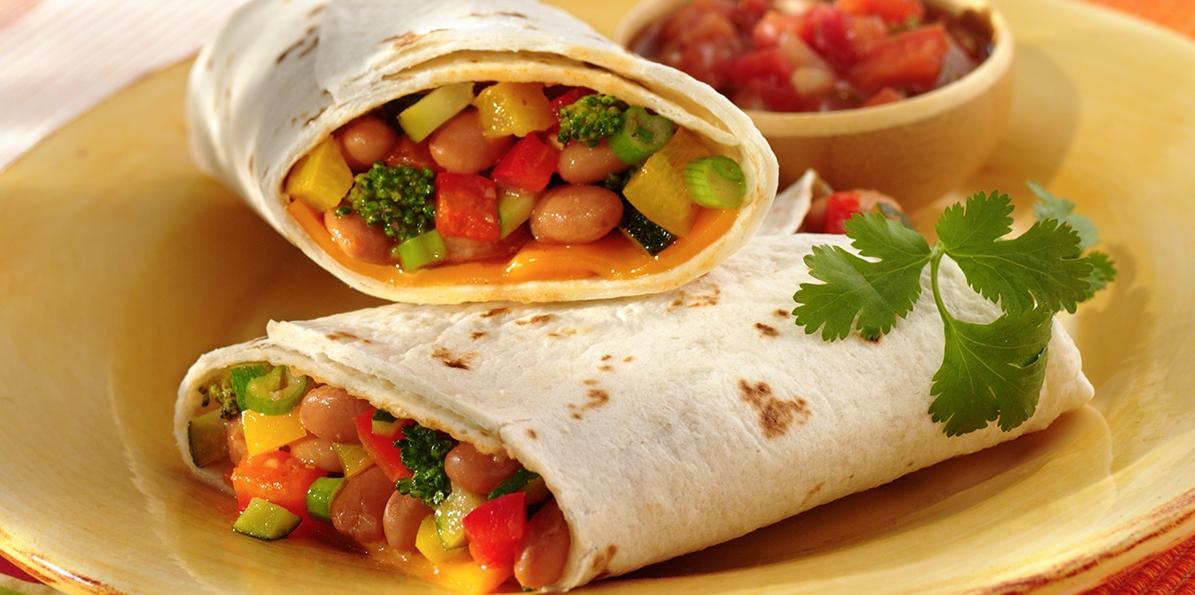Cheddar & Bean Burritos