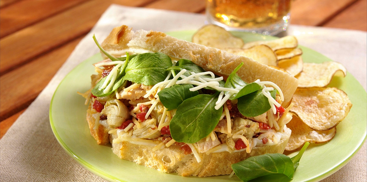 Cheddar Chicken Salad Sandwiches