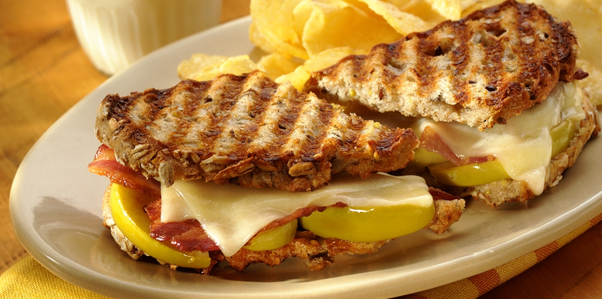 Cheddar & Apple Panini