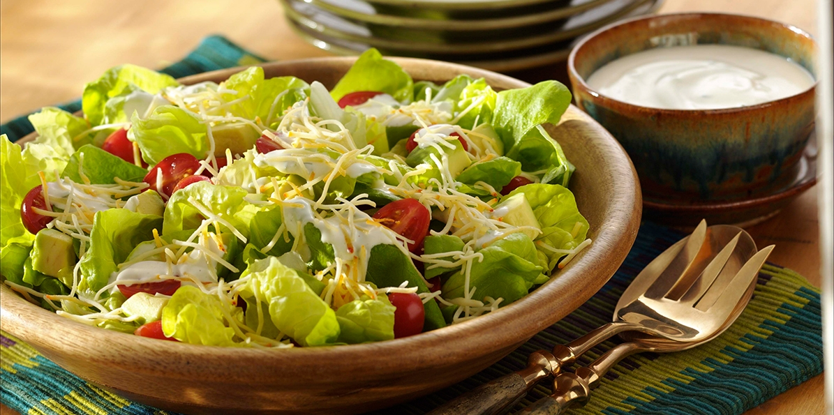 Bibb Salad with Mexican Cheese