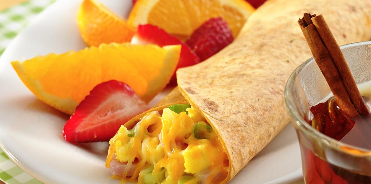 Light Style Breakfast Wraps