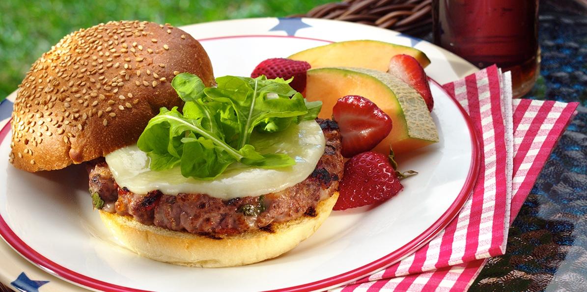 Provolone Cheeseburgers Americana