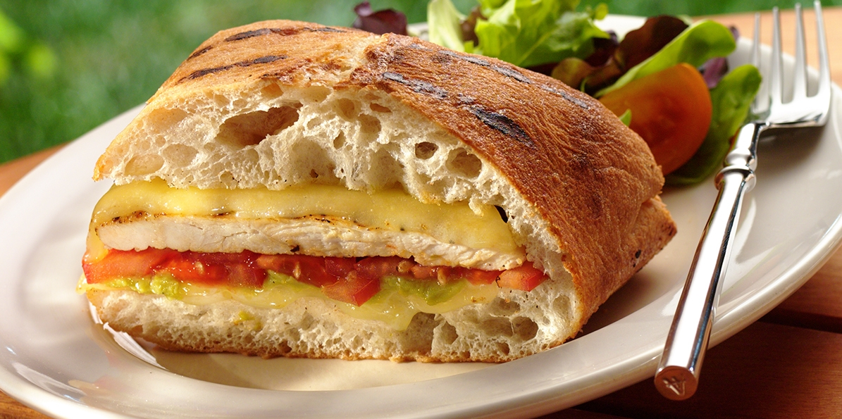 Grilled Chicken Cheesy Panini Sargento 174 White Cheddar Cheese