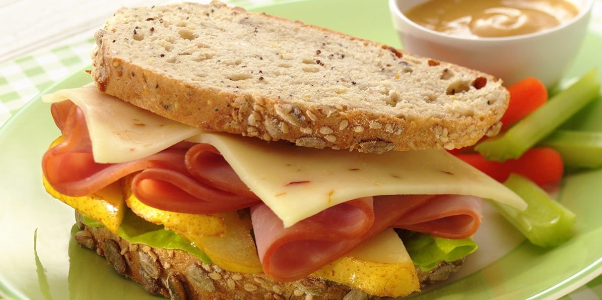 Ham, Pepper Jack & Pear Sandwich