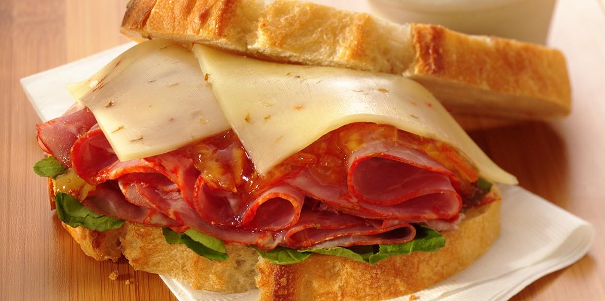 Ham & Pepper Jack Sandwich
