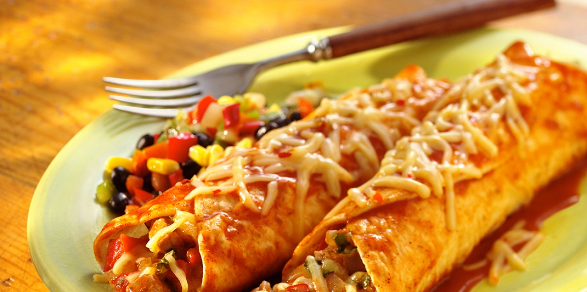 Pork & Pepper Jack Enchiladas