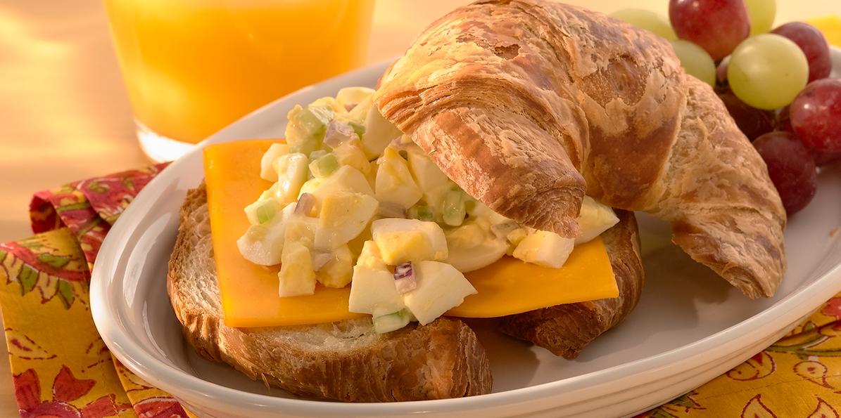 Cheddar & Egg Salad Croissants