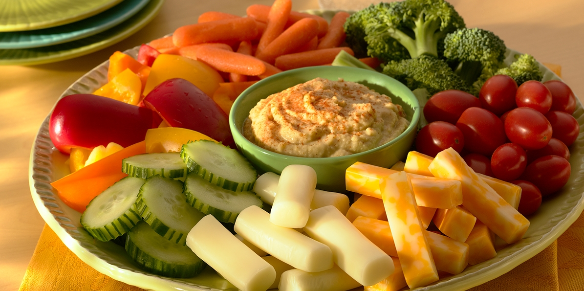 Vegetable And Hummus Platter Sargento Colby Jack Cheese Snacks
