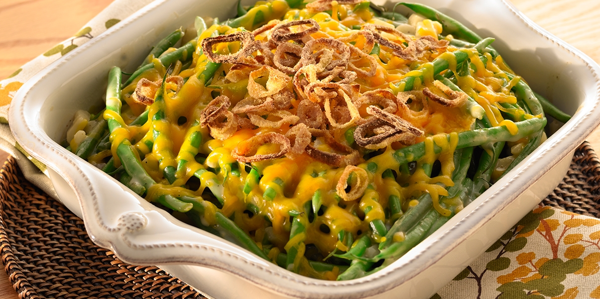 Green Beans with Cheddar