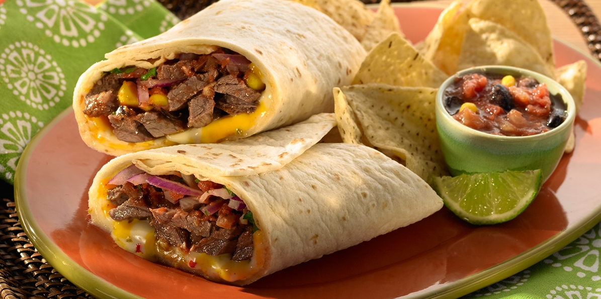 Mexican Grilled Steak Wraps