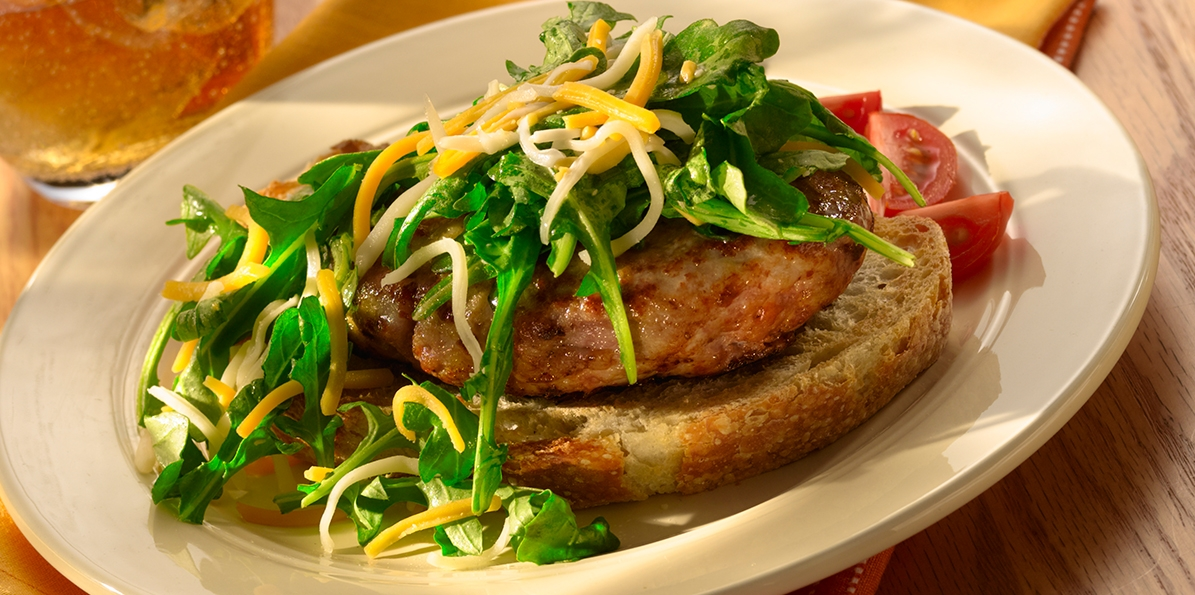 Turkey Patties with Arugula
