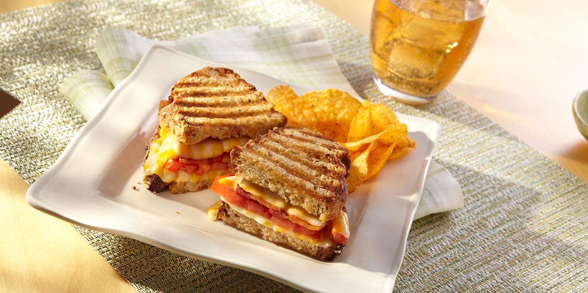 Bacon, Tomato & Cheddar Panini