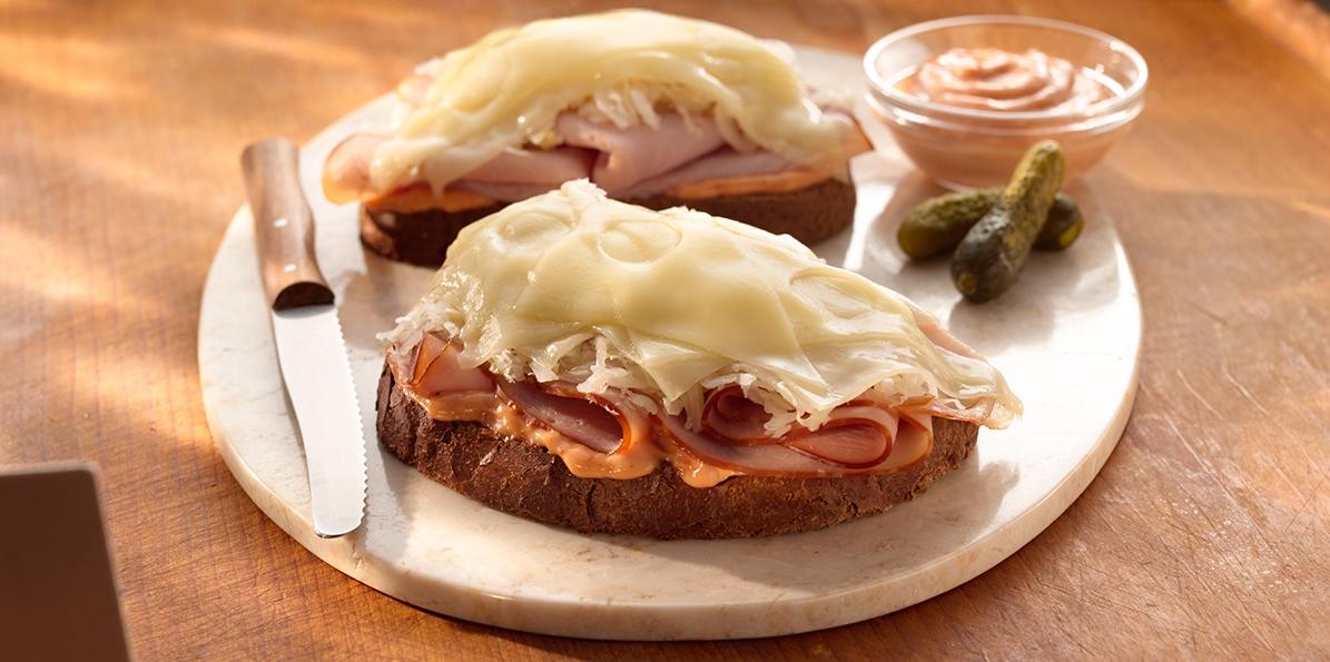 Ham Reuben Melts
