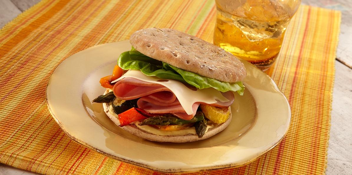 Ham, Swiss & Vegetable Sandwiches