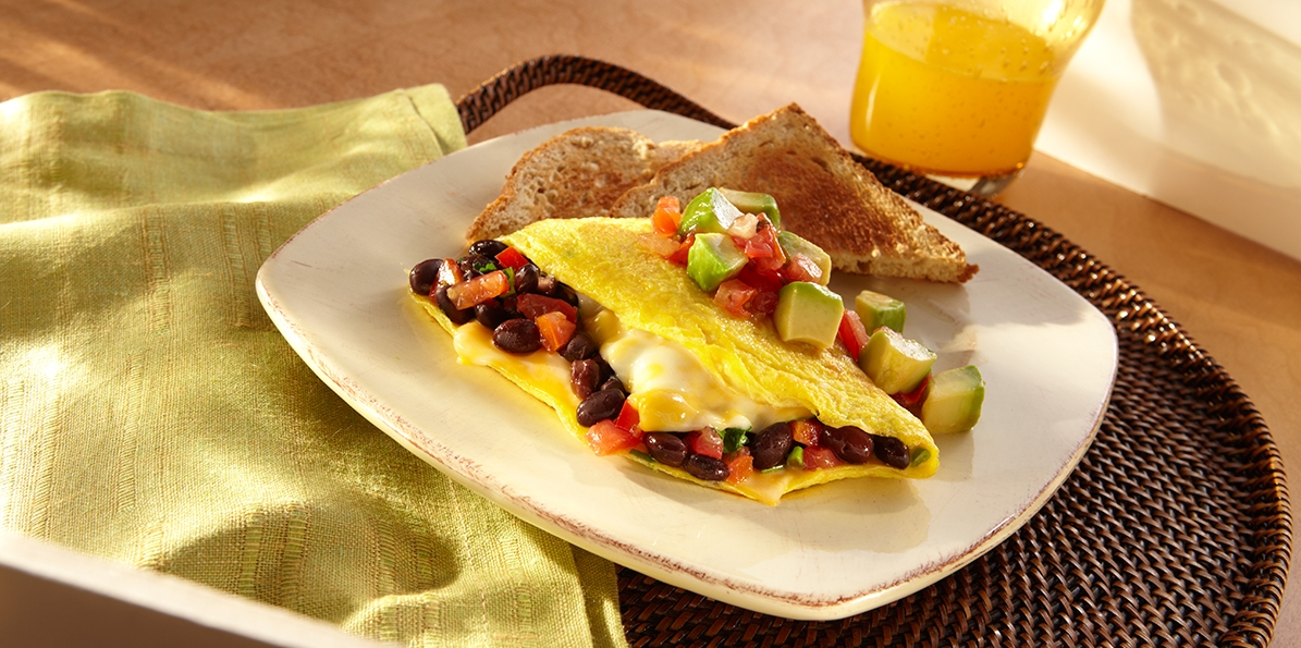 Southwestern Black Bean & Cheese Omelet