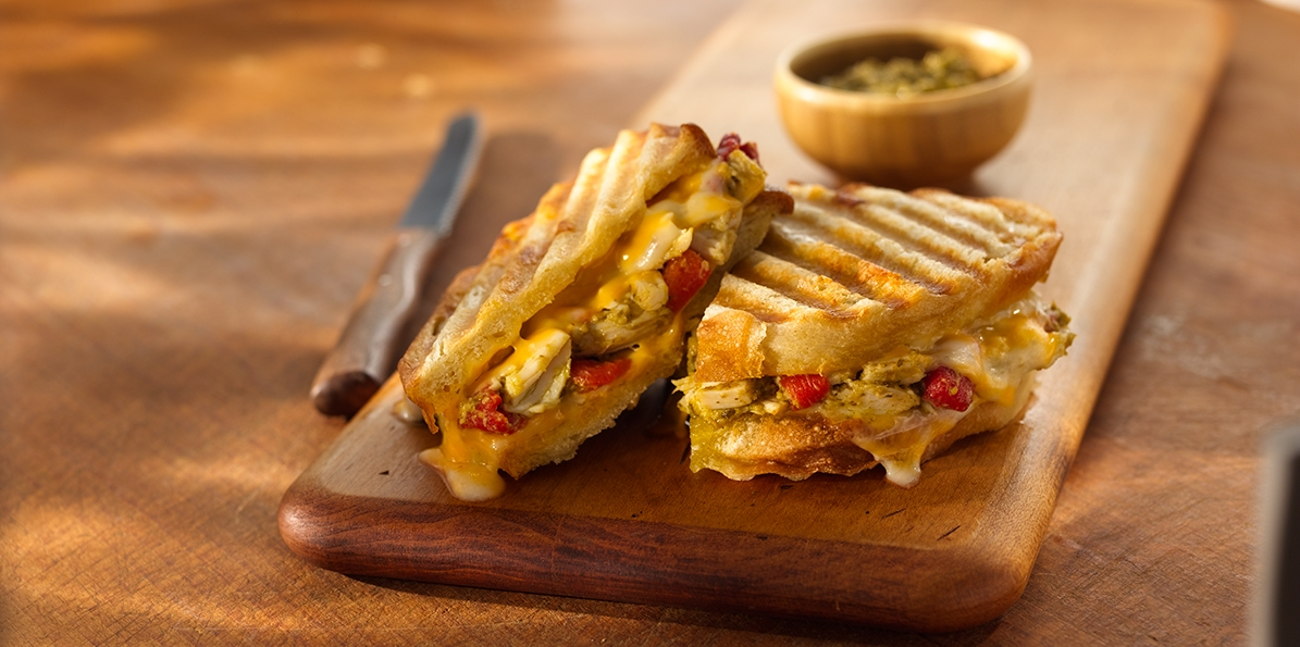Pesto Chicken & Cheese Panini