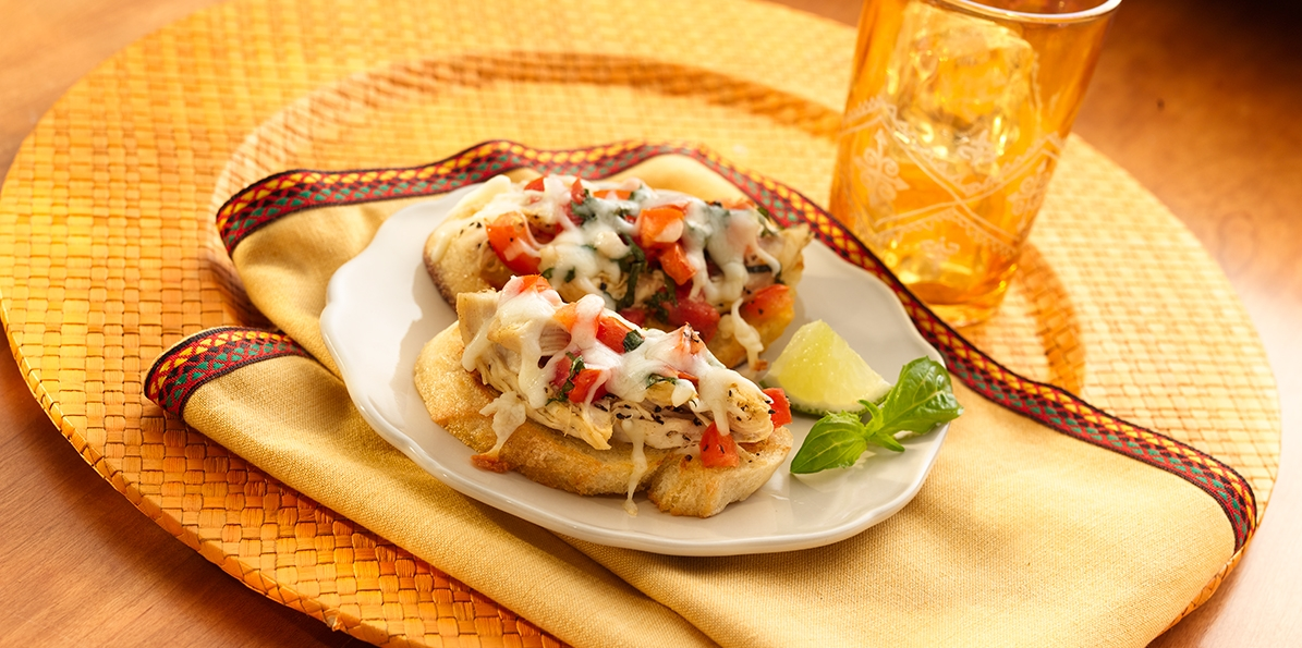 Tequila Lime Chicken Bruschetta
