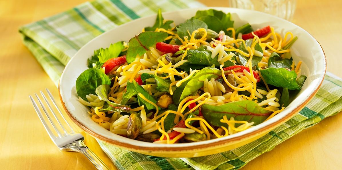 Orzo Salad with Cheddar