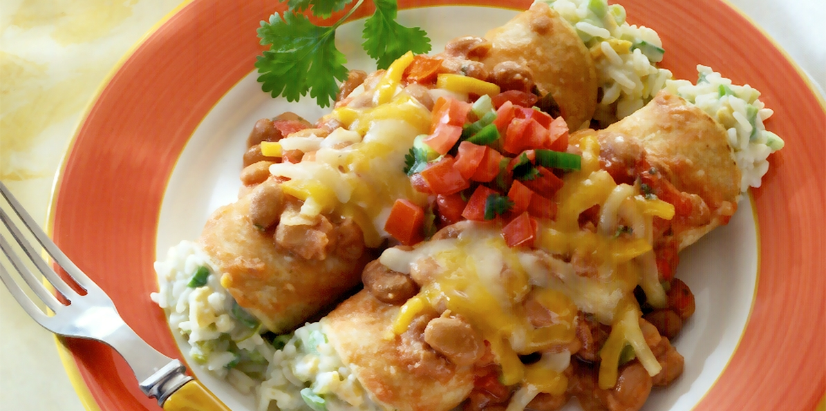 Cheese & Rice Enchiladas