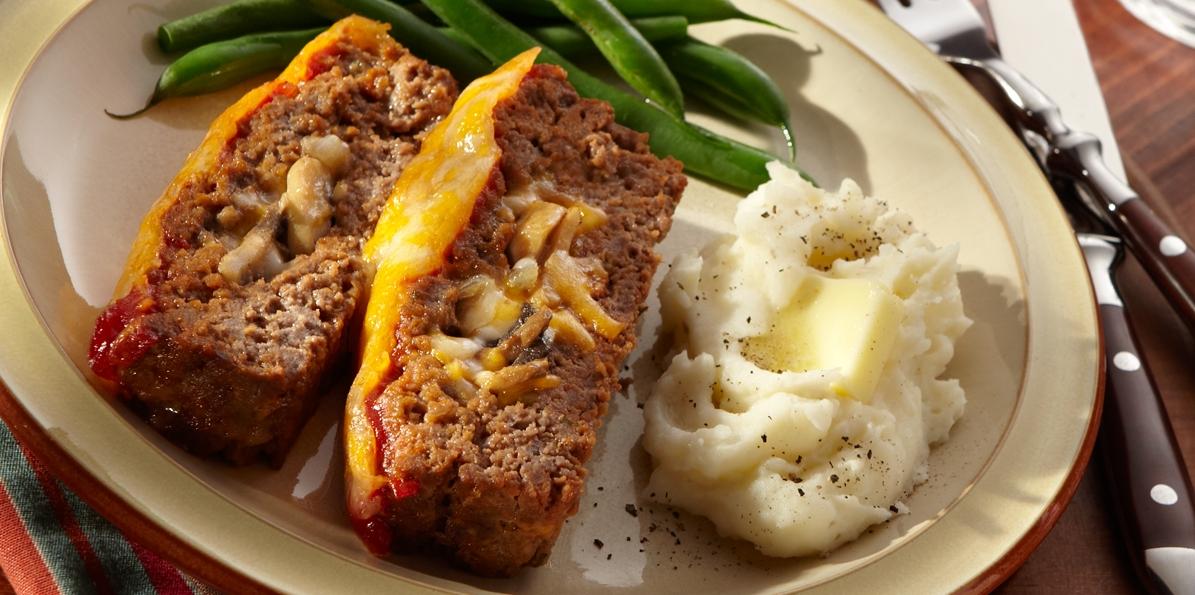 Cheddar & Mushroom Meatloaf