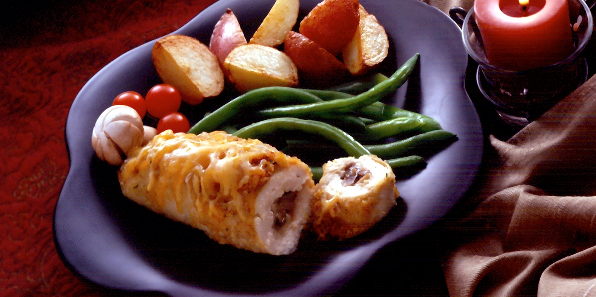 Cheese & Mushroom Chicken Breasts