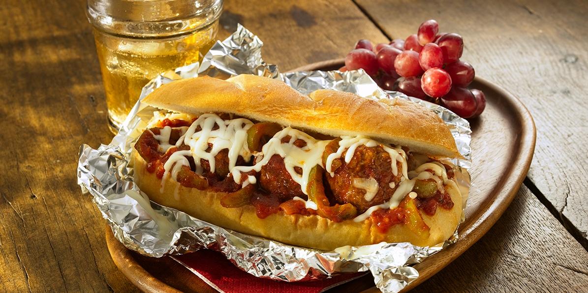 Stromboli Meatball Sandwich