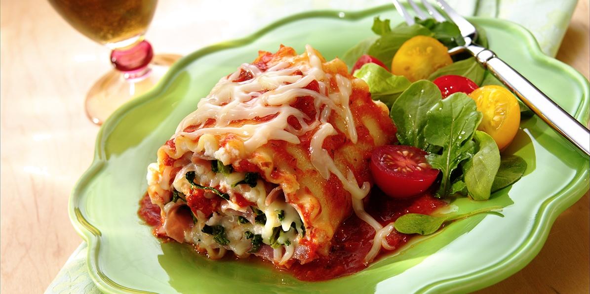 Prosciutto Lasagna Roll-Ups