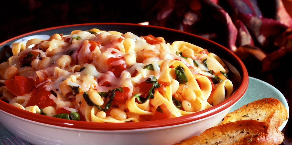 Fettucine with White Beans