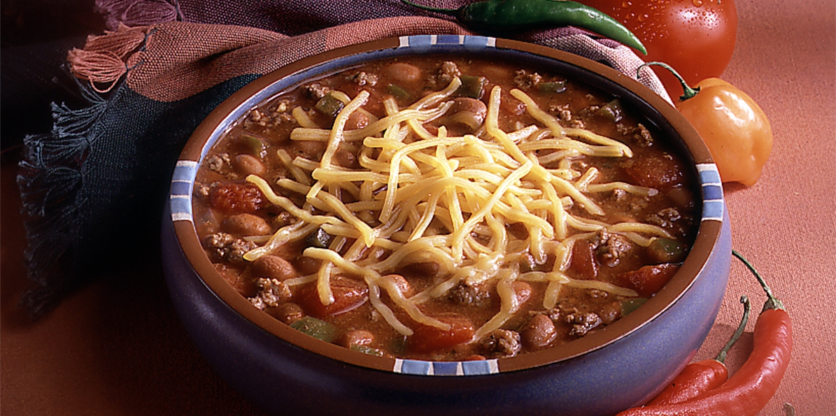Hearty Beef Chili Recipe Sargento 174 Shredded Mild Cheddar