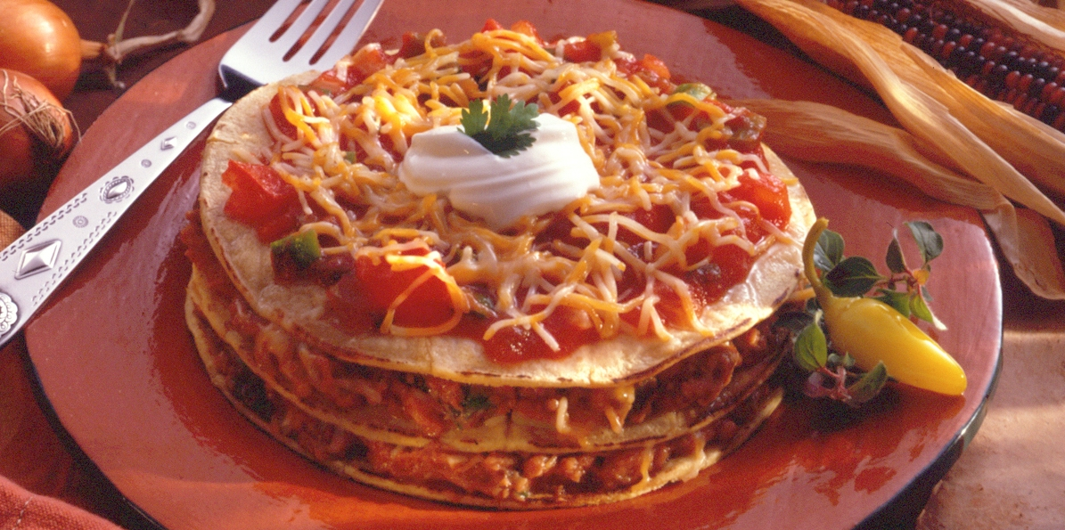 Chili Tortilla Stacks