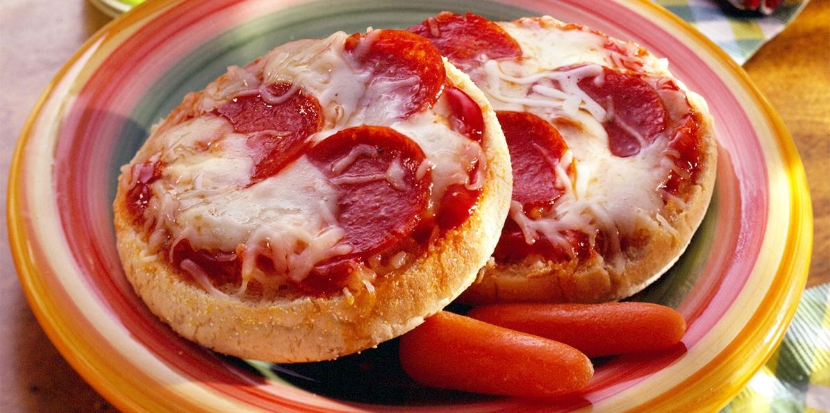 English Muffin Pepperoni Pizzas