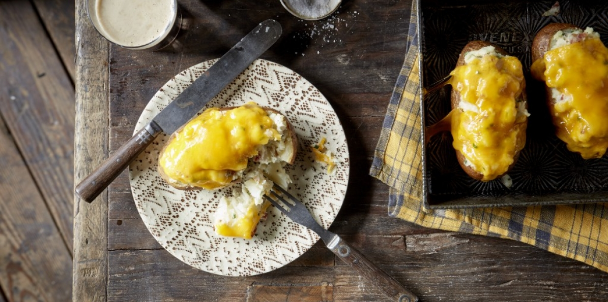 Cheesey Twice Baked Potatoes
