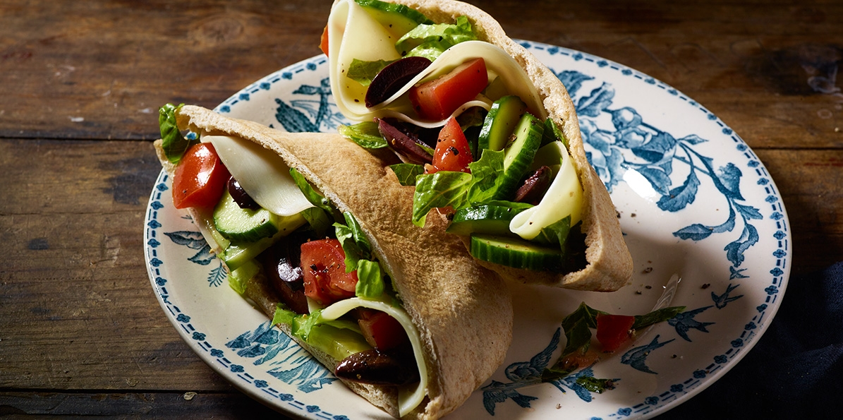 Chopped Greek Salad Pitas