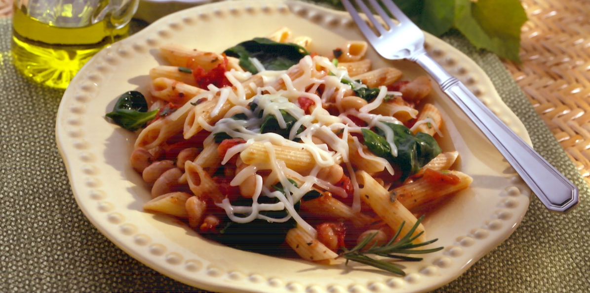 Penne with White Beans & Spinach
