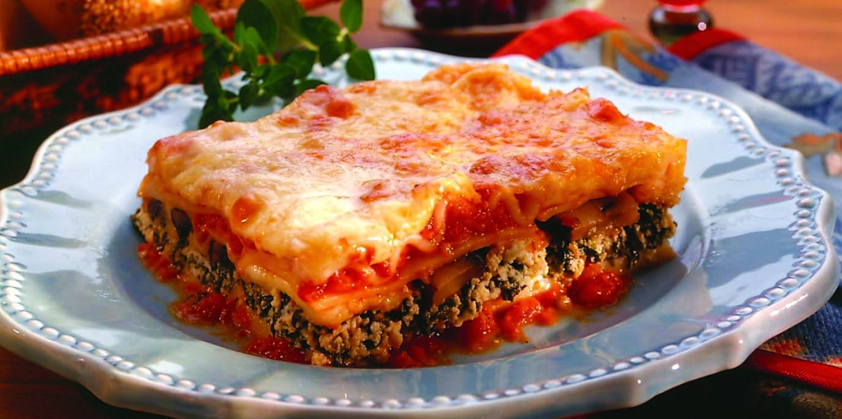 Lasagna Florentine With Mushrooms
