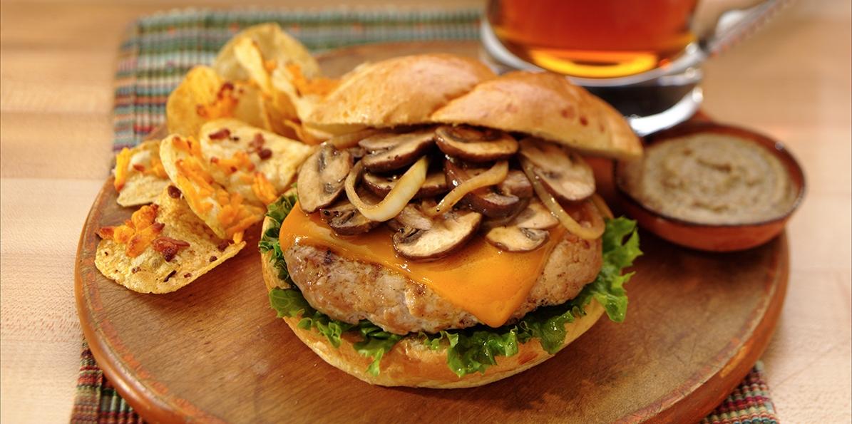 recipe: mushroom smothered beef burgers [14]